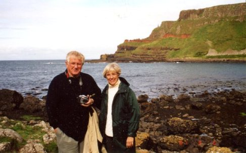 Fred & Betty Alderman at Giant's Causeway, Ireland